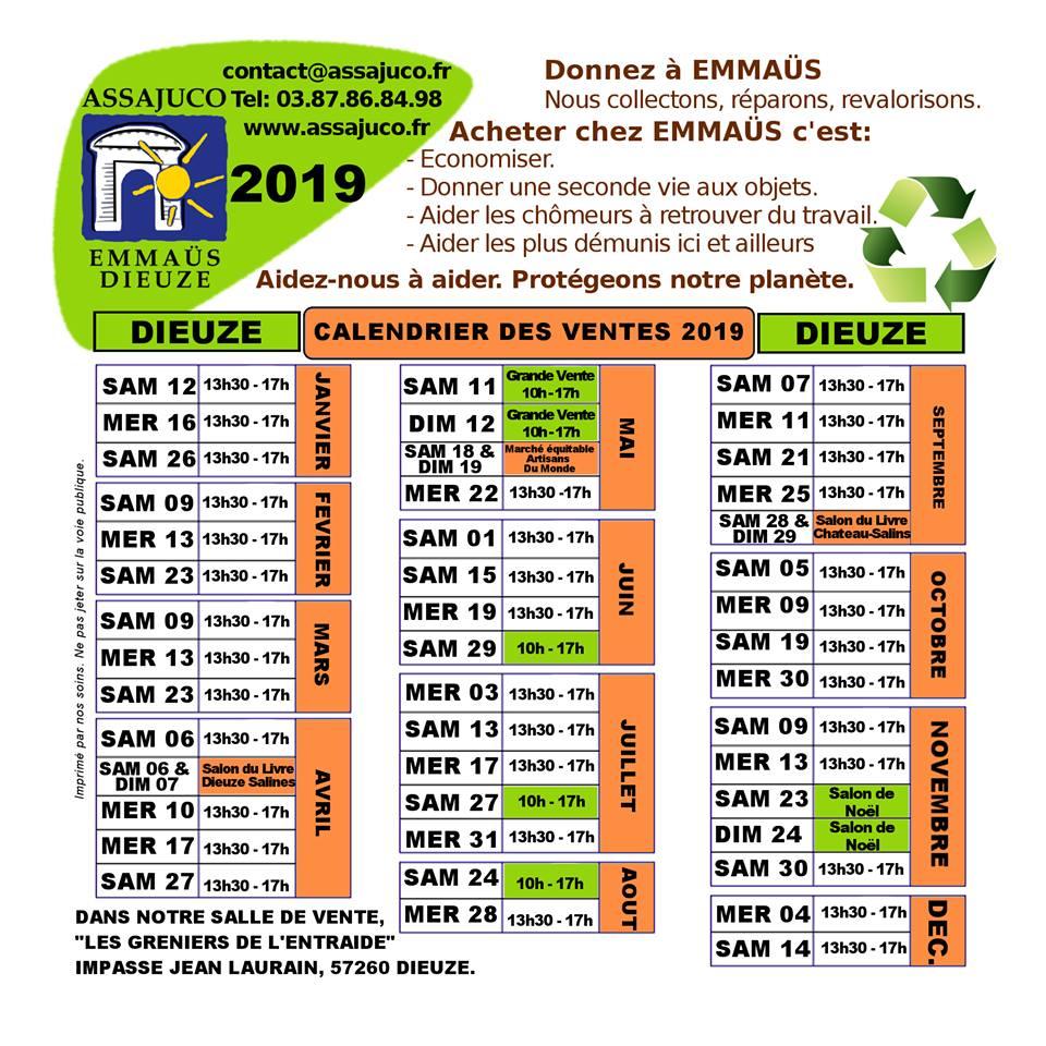 Achat Calendrier 2019.Grain De Sel Le Calendrier 2019 Des Marches Aux Puces A Dieuze