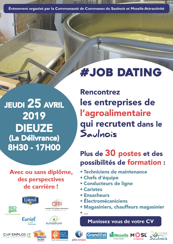 Affiche jobdating agroalimentaire
